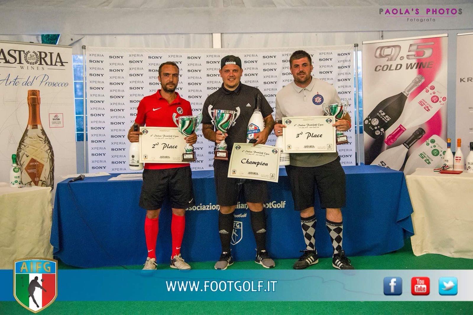 Italian Open podium